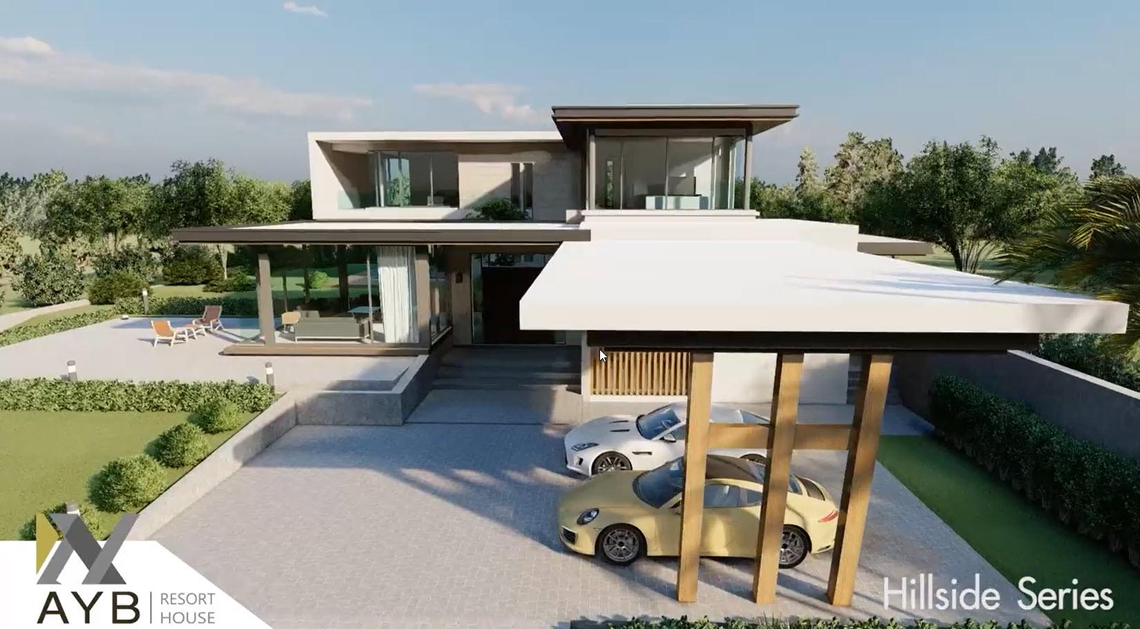 แบบบ้าน Hillside - หน้าบ้าน