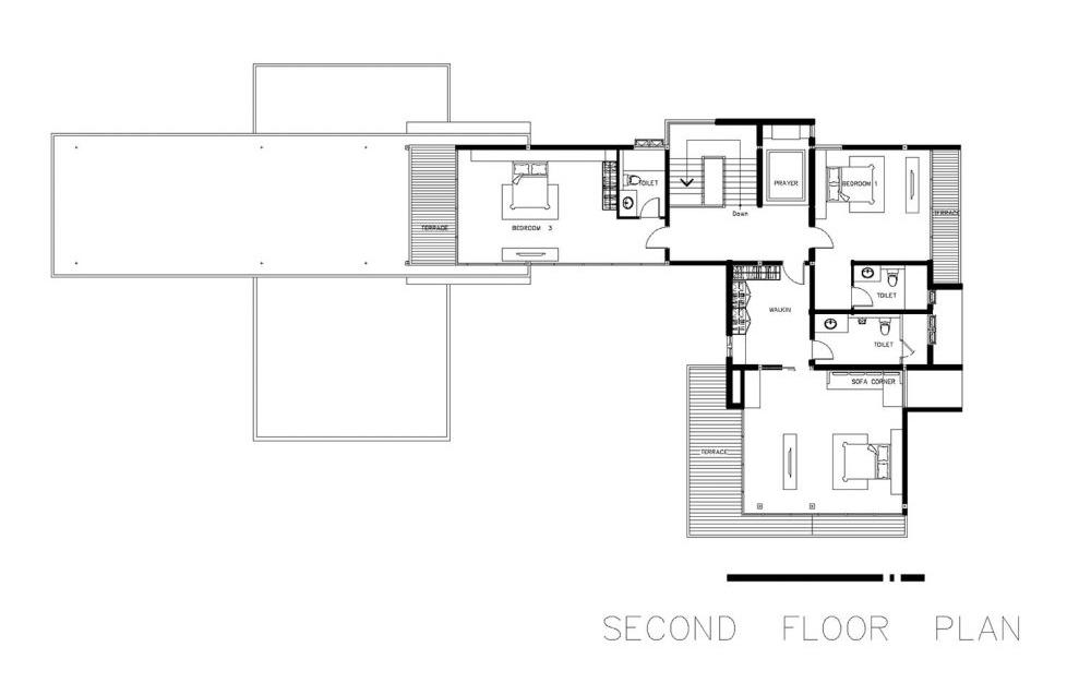 แบบบ้าน L 106 - แปลนชั้น 2